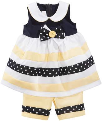 Bonnie Baby Baby Girls 2-Pc. Nautical Dress & Capri Set