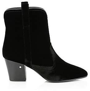 Laurence Dacade Women's Sheryll Velvet Western Ankle Boots