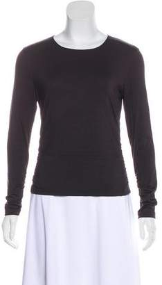 Rena Lange Silk-Blend Long Sleeve Top