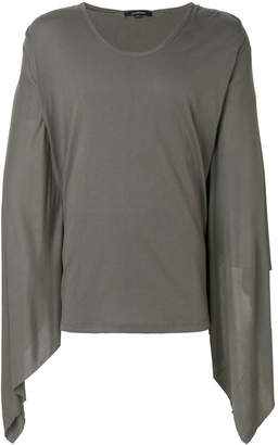 Unconditional draped sleeves T-shirt