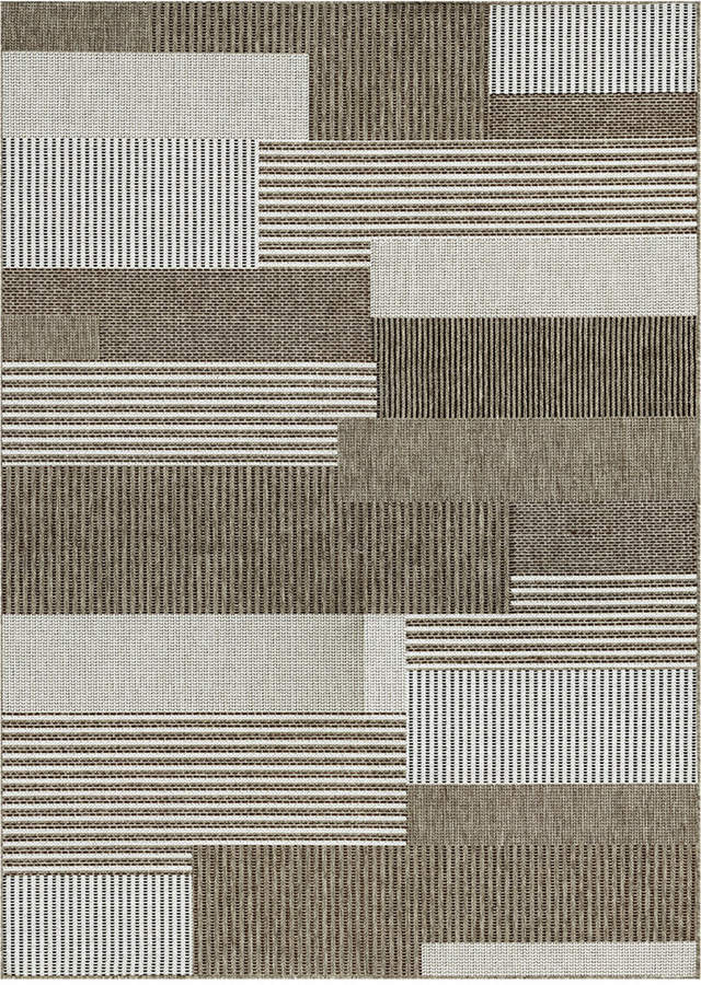 "Couristan Couristan Monaco Indoor/Outdoor Starboard Grey-Sand 2'3"" x 7'10"" Runner Area Rug"