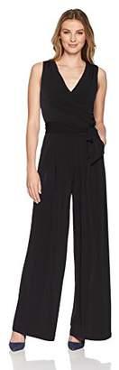 Eliza J Women's Sleeveless Faux Wrap Jumpsuit