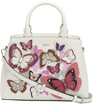 DKNY Paige Leather All Over Butterfly Garden Satchel