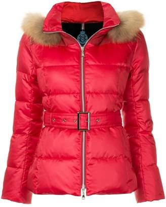 GUILD PRIME fur hood trim puffer jacket