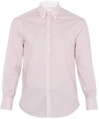 Brunello Cucinelli Striped single-cuff cotton shirt