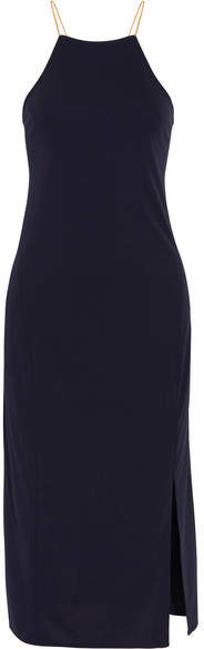 DKNY - Lace-up Cady Dress - Midnight blue
