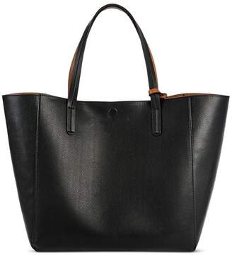 Merona Women's Reversible Faux Leather Tote Handbag $36.99 thestylecure.com