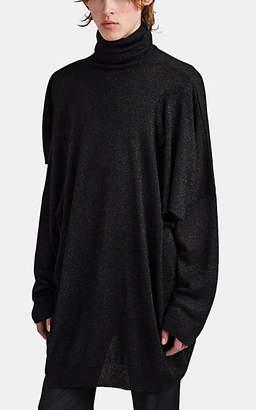 Raf Simons Men's Multi-Sleeve Metallic Rib-Knit Sweater - Black