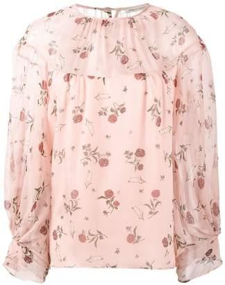 Emilia Wickstead Lauren rose print blouse