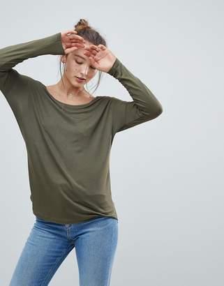 Asos DESIGN Long Sleeve Curve Hem T-Shirt