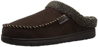 Dearfoams Men's Clog w/Whipstitch & MF Slipper