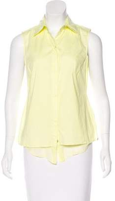 Saks Fifth Avenue 9/15 Exclusively for Sleeveless Button-Up Top
