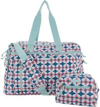 Vera Bradley Lighten Up Weekender Travel Bag w/ Cosmetic Case