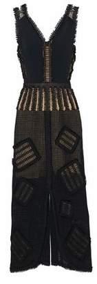 Roland Mouret Appliquéd Crocheted Linen Midi Dress