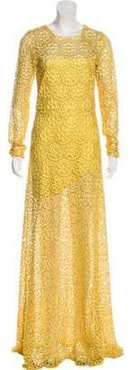 Alexis Eyelet-Accented Maxi Dress