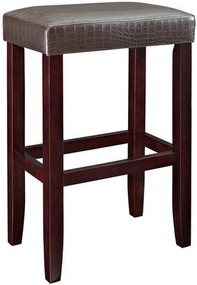 Powell Faux-Leather Bar Stool