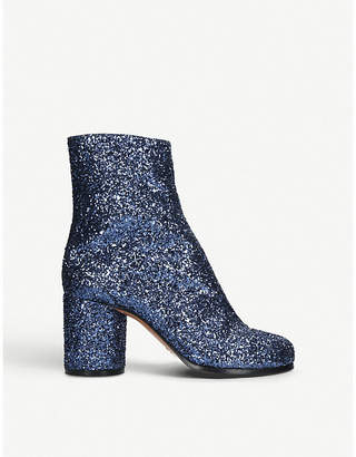 Maison Margiela Tabi glitter leather ankle boots