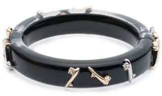 Alexis Bittar Crystal Spike Hinge Bracelet