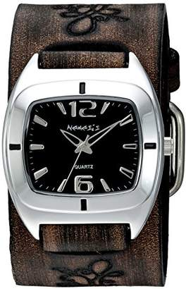 Nemesis Women's 'Retro Vintage Series' Quartz Stainless Steel and Leather Watch