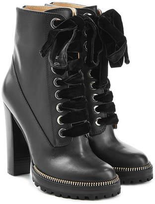 Sergio Rossi Camilla Leather Ankle Boots