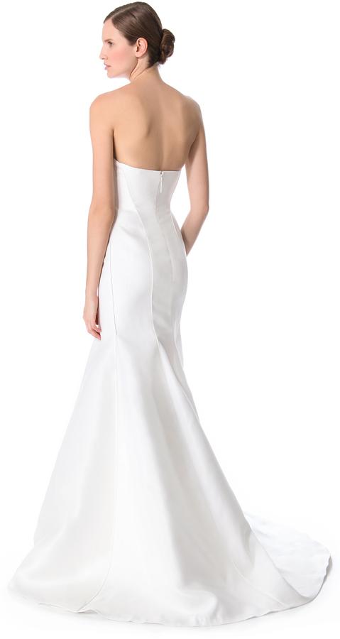 J. Mendel Blanche Strapless Mermaid Gown