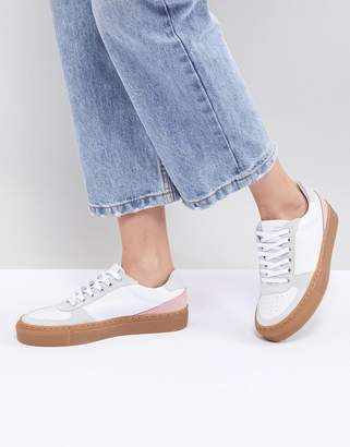 Mads Norgaard Color Block Leather Sneakers