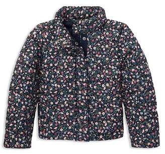 Ralph Lauren Girls' Floral Lightweight Puffer Jacket - Little Kid