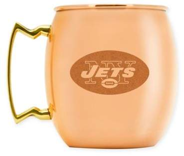 NFL New York Jets 16 oz. Brushed Copper Moscow Mule Mug