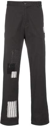 78 Stitches Grey patchwork trousers