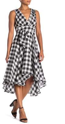 Eva Franco Libby Plaid Hi-Lo Dress