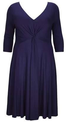 Evans **Scarlett & Jo Jersey Knot Front Dress