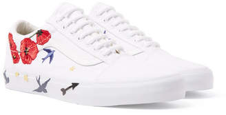 Vans Old Skool Embellished Leather-Trimmed Canvas Sneakers