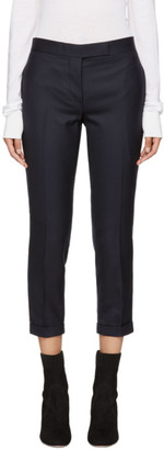Thom Browne Navy Wool Low-Rise Skinny Trousers