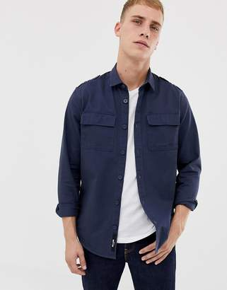 ONLY & SONS military shirt in regular fit