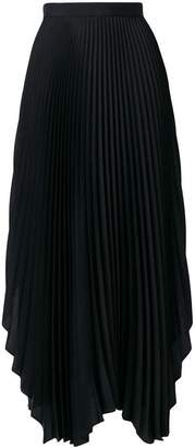 Pringle pleated asymmetric skirt