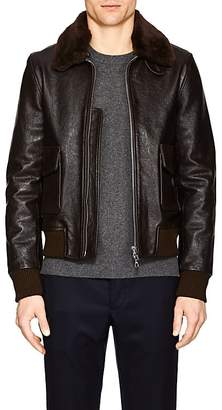 Officine Generale Men's Leather & Shearling Bomber Jacket