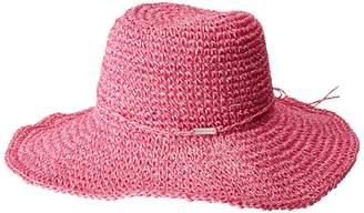 Steve Madden Crochet Cowboy Hat with Ties Caps