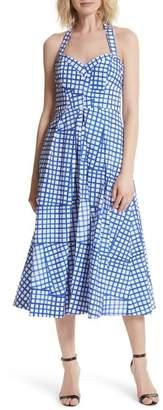 Milly Paige Stretch Cotton Halter Dress
