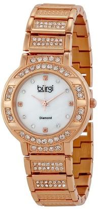 Burgi Rose gold-tone brass Ladies Watch