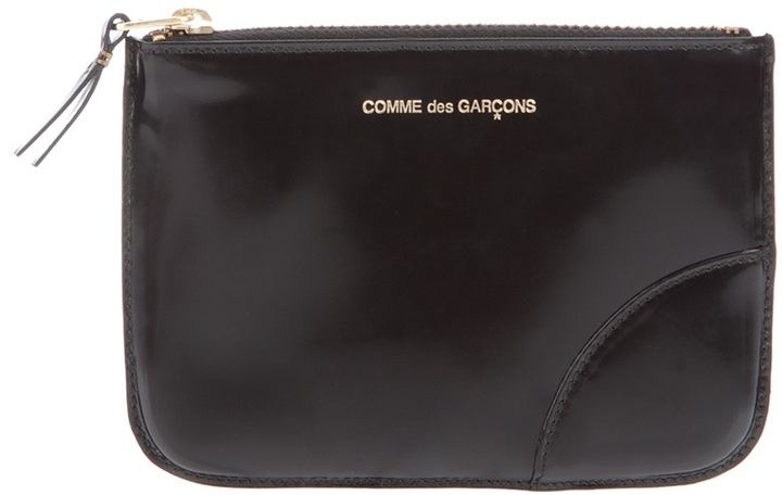 Comme des Garcons glossy leather wallet
