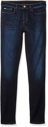 Armani Jeans Women's Straight Leg Mid Rise Denim Jeans