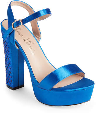 Lauren Lorraine Royal Blue Carly Platform Sandals