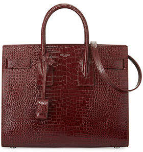 Saint Laurent Sac de Jour Small Crocodile-Embossed Satchel Bag
