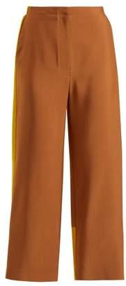 Roksanda Nario Colour Block Twill Trousers - Womens - Beige