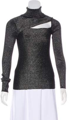 A.L.C. Metallic Turtleneck Sweater