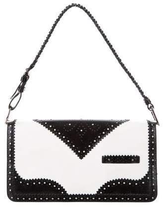 Christian Dior Brogue Agent Laser Cut Shoulder Bag