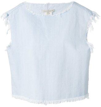 Marc By Marc Jacobs raw edge denim blouse $322.90 thestylecure.com