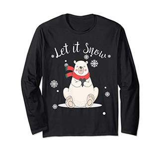 Let it Snow Polar Bear Tee Christmas Holiday Spirit Animal