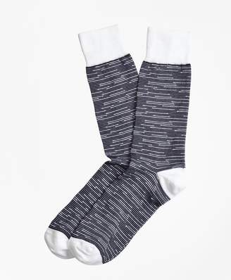 Brooks Brothers Feeder Stripe Crew Socks