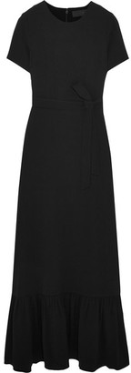 Co - Belted Crepe Maxi Dress - Black $995 thestylecure.com